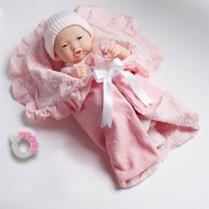 La Newborn 15.5 Inch Deluxe Layette Gift Set - Asian - Soft Body Doll - JC Toys