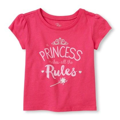 Short Sleeve 'princess Makes All The Rules' Graphic Tee - The Children's Place