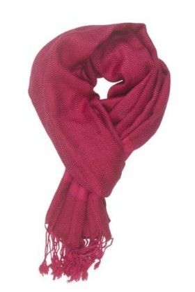 In-sattva Colors – Two-tone Horizontal Stripes Scarf Stole Fuschia - In Sattva