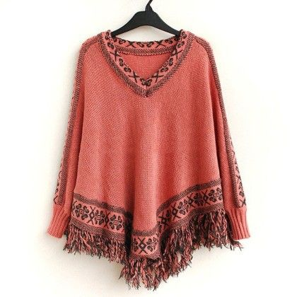 Pounchu Cardigan Peach - STUPA FASHION