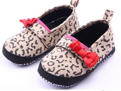 Leopard Print With Red Bow Shoes - Milonee