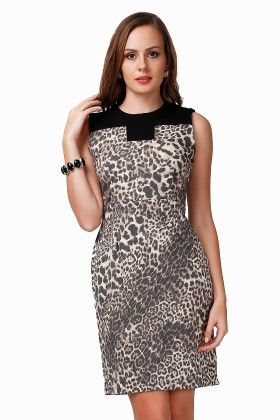 Dressvilla Cheetah Print Short Dress