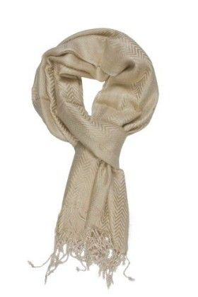 In-sattva Colors – Two-tone Horizontal Stripes Scarf Stole Tan - In Sattva
