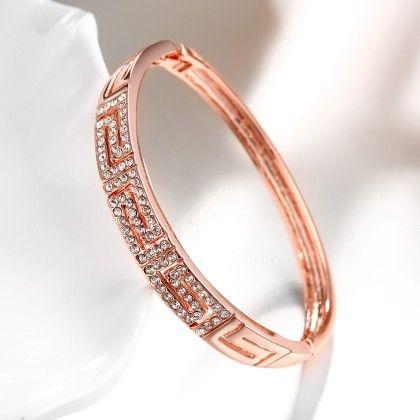Rose Gold Maze Bracelet Swarovski Elements - Rubique Jewelry
