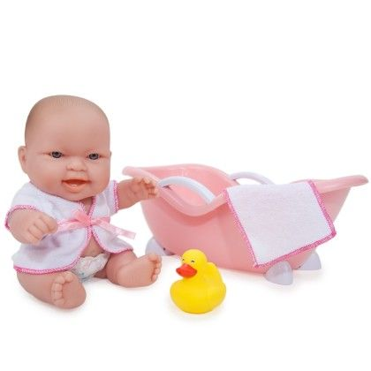 Lots To Love Babies 10 Inch Doll And Bathtub - JC Toys