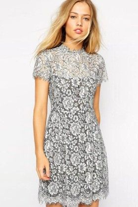 Floral Lace Dress - Drape In Vogue