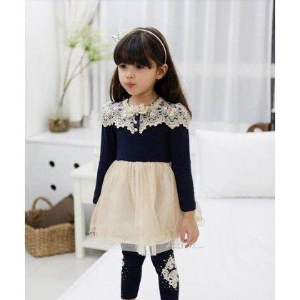 Blue Princess Party Dress - Petite Kids