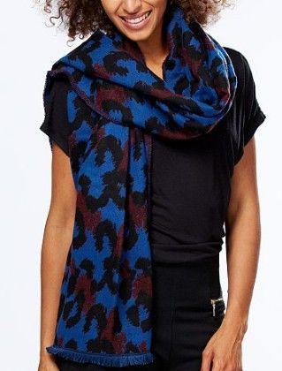 Leopard Print Knit Scarf Multi -2 - Kiabi