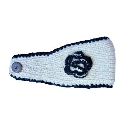 Head Bands- White And Black - The Felt Shop