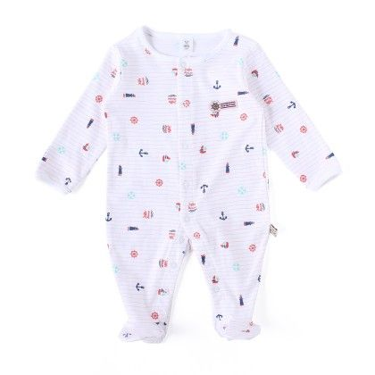 Anchor Allover Print Soft Sleepsuit - TOFFYHOUSE
