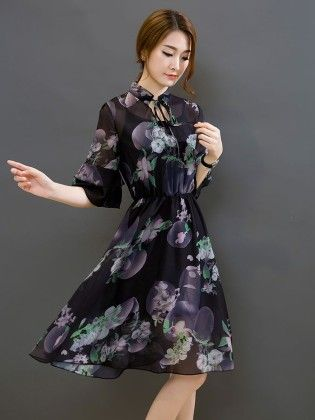 Flowi Floral Dress - Drape In Vogue