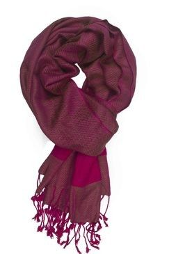 In-sattva Colors – Two-tone Horizontal Stripes Scarf Stole Pink - In Sattva