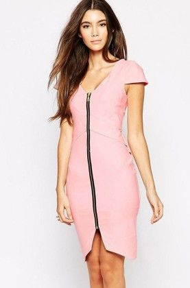 Front Zipper Dress - Drape In Vogue