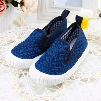 Blue Allover Printed Canvas Sneakers - Twinkle Toes