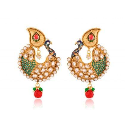 Peacock Pride Kundan - Rooh Jewellery