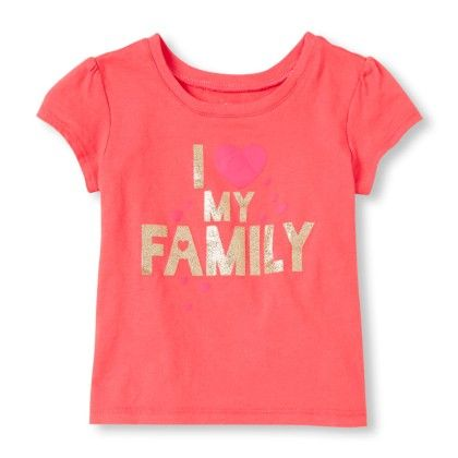 Short Sleeve 'i Love My Family' Graphic Tee - The Children's Place