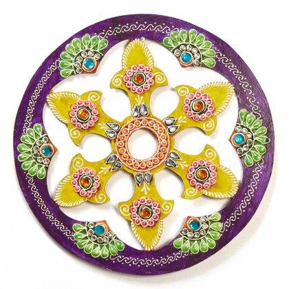 Circle Jhali Floor Rangolli 4 - Color Crave