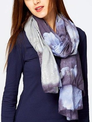 Glittery Tie-dye Scarf Multi - Kiabi