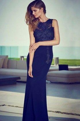 Stylish Blue Dress - Drape In Vogue