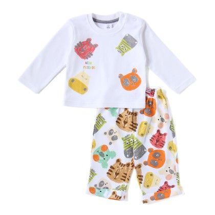 Animals Face Boys Set With All Over Print Full Pant - TOFFYHOUSE