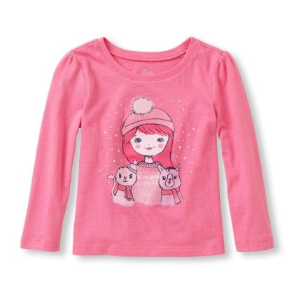 Long Sleeve Girl & Cats Graphic Tee - The Children's Place