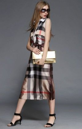 Stylish Checkes Dress - Drape In Vogue
