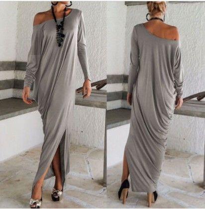 One Off Shoulder Drape Dress - Drape In Vogue