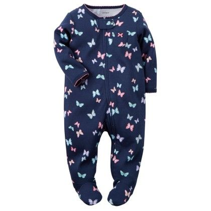 Cotton Snap-up Sleep & Play  Butterfly Print - Carter's