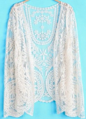 Apricot Long Sleeve Hollow Lace Blouse - She In