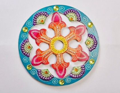 Circle Jhali Floor Rangolli 2 - Color Crave