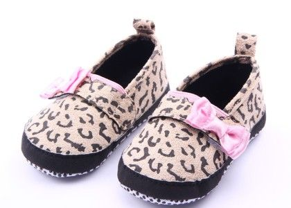 Leopard Print With Pink Bow Shoes - Milonee