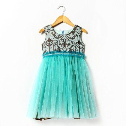 Victoria Silk Jacquard Yoke Teamed With A Nice Shade Of Blue Dress - ISM