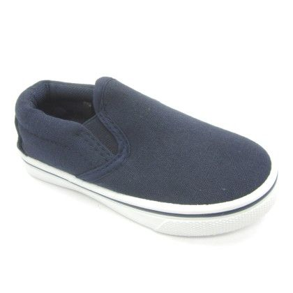 Hanging Canvas Slip-on Sneaker - Navy - Jesco Footwear