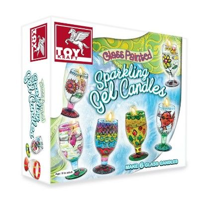 Glass Painted Sparkling Gel Candles - TOY-KRAFT