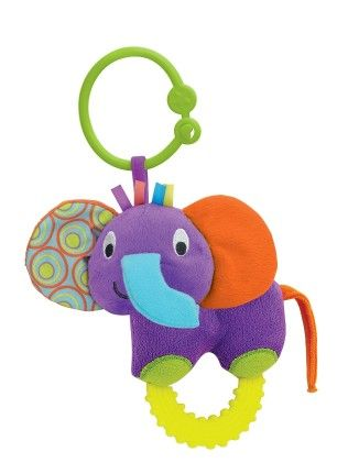Timber The Elephant Hand Rattle - Little Pals