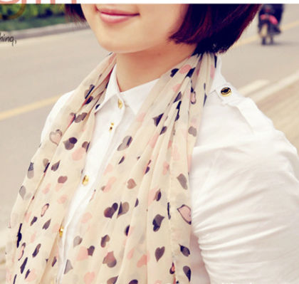 Sweet Love Printed Scarf - Glaze