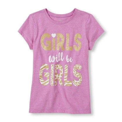 Short Sleeve 'girls Will Be Girls' Graphic Tee - The Children's Place