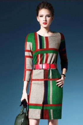 Multi Color Onepiece Dress - Drape In Vogue