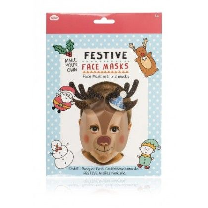 Festive Make Your Own Reindeer Snowman Mask - NPW