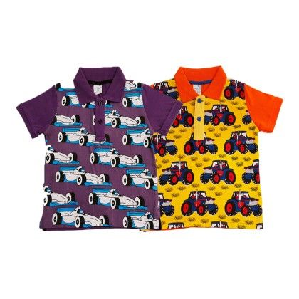 Purple & Yellow Kids T Shirt Combo Pack Of 2 Purple,yellow - Huntler
