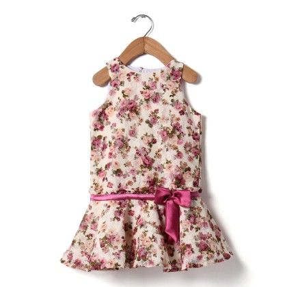 Classic Bow Lace Dress - Fuschia - The KidShop