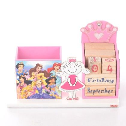 Princess Pencil Stand With Calendar - KIDOZ