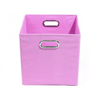 Rose Solid Pink Folding Storage Bin - Modern Little