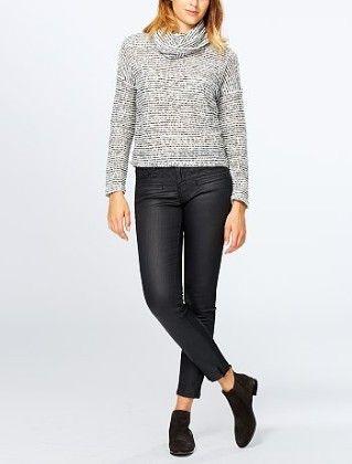 Bouclé Knit Roll Neck Sweater -multi - Kiabi