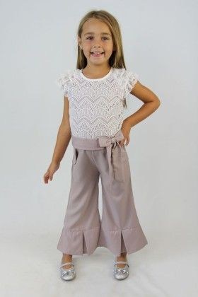 White And Grey Lace Bow Jumpsuit - Tutu And Lulu