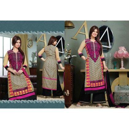 Designer Suit - Multi Color - Khwaish