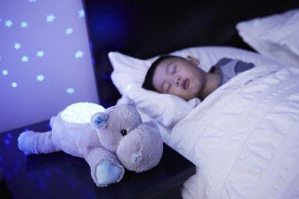 Twilight Buddies Plush Toy With Nightlight -hippo - Cloud B