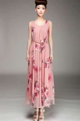Flower Print Dress Pink - Oomph