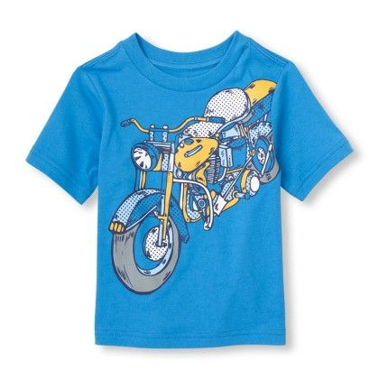 Short Sleeve Motorcycle Graphic Tee - The Children's Place