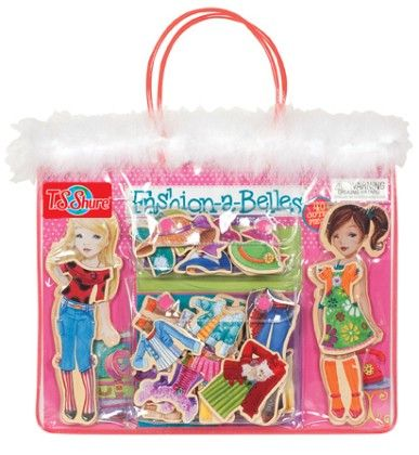 Fashion-a-belles Wooden Magnetic Dress-up Dolls - TS Shure